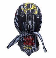 Pink Blue Chrome Angel Doo Rag Headwrap Skull Cap Biker Durag Sweatband Capsmith