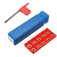 Face Milling SRAPR1616H10 Lathe Tool Holder + 10Pcs RPMT10T3MO Carbide Inserts