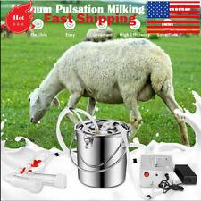 7l Dual Head Electric Sheep Goat Milking Machine Vacuum Pump Stainless Milker