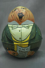"""Tobacco Tin Can Singer 1979 Brownie Round Bristolware 6 7/8"""" Tall"""