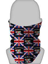 Bulldog Británico & Unión Jack NO Rendición Calentador Cuello Mascarilla braga