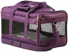 Pet Carrier, Portable cage Dog cat rabbit Ferrett Supplies Vet Car Small Plum