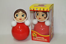 """Tumbler Toy, Roly-poly Baby Toy """"Nevalyashka Little Girl"""", 5.7"""" x 5.7"""" x 10.6"""""""