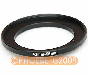 43mm to 55mm 43-55 mm Step Up Filter Ring  Adapter