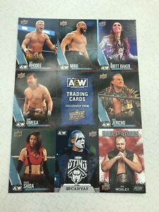NYCC 2021 AEW UPPER DECK EXCLUSIVE FIRST EDITION UNCUT CARD SHEET