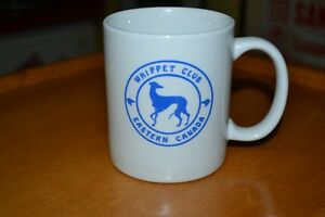 Whippet Club of Eastern Canada Logo Coffee Mug Cup Nice Greyhound Dog Breed