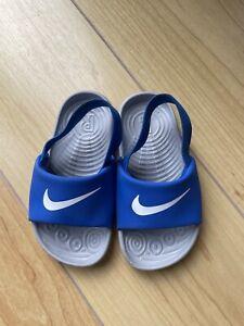 Toddler Unisex Blue Nike Sliders Flip Flops Size UK 7.5 New