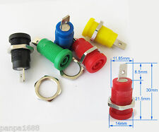 5set 5 color 4mm safety Protection plug Binding Post Banana Jack Hex Screw Fixed