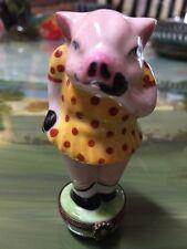 Limoges Pig Trinket Box. Super Cute