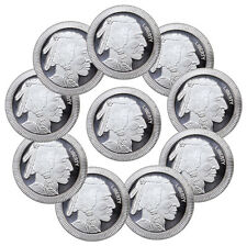 1 oz. Silver American Indian Buffalo Stacker Round - Lot of 10 Rounds SKU45166