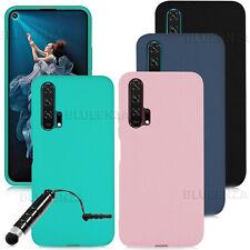 For Nova 5T Honor 20 7S 8S 8A 8X 10 Lite 20 Pro Case Silicone Gel Cover Rubber