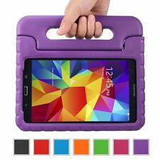 "Kids Safe Carry Heavy Duty Shockproof Rubber Case Cover Stand for Samsung Tablet Galaxy Tab a 10.1 Sm-t580 T585 10.1"" Device Purple"