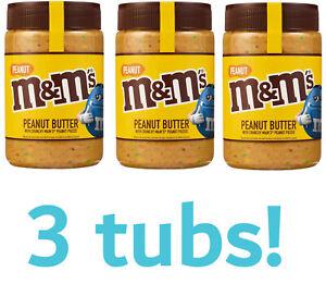 3 x M&Ms Peanut Butter (225g) Jar Crunchy Chocolate Spread Nutella Jelly M&M's