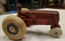 """1930s ANTIQUE ARCADE CAST IRON OLIVER FARM TRACTOR TOY DRIVER 5"""" Long x 3"""" Wide"""