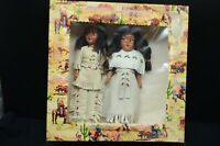 Two 1950s  BERMAN BUCKSKIN Native Dolls-Leather/Beaded Clothing-Knickerbockers