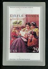 Novelty stamp PUZZLE postcard Scott #2788 Little Women Novels Alcott 1993