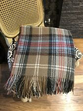 LARGE BRITISH HANDWOVEN 100% PURE NEW WOOL TARTAN BLANKET THROW like Moon