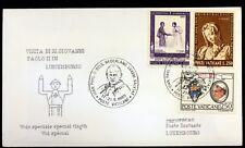 LUXEMBOURG   VOYAGE du  Pape Jean-Paul II Vatican Enveloppe PA61