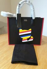 LADIES KARL LAGERFELD BAG TOTE SHOPPER- BLACK CAT BNWT GENUINE & GORGEOUS 100%