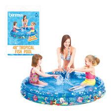 "Benross 48"" Outdoor Garden Kids Play 3 Ring Tropical Fish Swimming Paddling Pool"