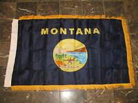 3x5 Montana State Poly Nylon Sleeve w/ Gold Fringe Flag 3'x5' Banner