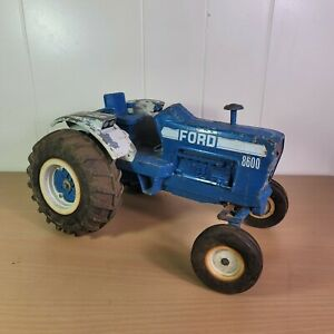 "Vintage 1970s Ertl Die-Cast 1/12 13"" Scale Blue Ford 8600 Farm Tractor Repair"
