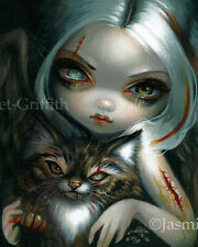 Zombie Kitty Jasmine Becket-Griffith CANVAS PRINT big eye Cat Fairy gothic art