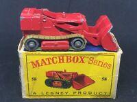 *Rare Matchbox Lesney 58 B2 Drott Excavator *SPRollers w Orig D1 Box