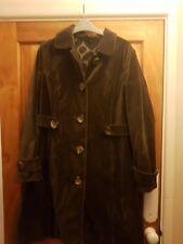 Gorgeous chocolate brown Boden velvet coat size 14
