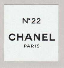 Carte à parfumer - perfume card  - N°22 de Chanel