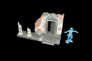 Civil War Destroy Mansion (painted) MARX CTS 1:32 scale plastic toy soldiers