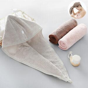 Coral Velvet Bath Quick-drying Turban Towel Cap Cute Long Hair Hair Shower Cap