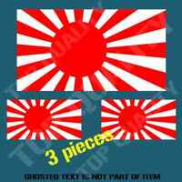 JAPAN OLD FLAG RISING SUN DECAL STICKER JDM RALLY DRIFT OLD SCHOOL DECL STICKERS
