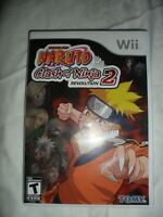 Wii Naruto Clash of Ninja Revolution 2 II Nintendo Wii 2008 w/ case Video Game
