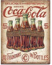 Coca Cola Bottle 5 Cents Coke Metal Tin Sign Vintage Look Garage Home Decor New