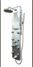 Aluminum Shower Tower Massage Jets W Spa Panel with Rainfall Head Bath