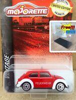 Majorette Volkswagen VW Beetle Feuerwehr Red Vintage 1:64 241A Free Show Box