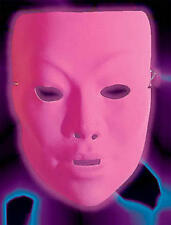 Neon Pink Plastic Face Mask Drama Theatrical Fancy Dress
