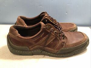 Hush Puppies Jet Stream Men's Leather Brown  Lace Up Shoes Size UK11 EU46