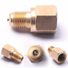 HKATOPS 2pcs R134a Air Condition Adjustable Coupler /4 SAE to 1/2ACME Adapter