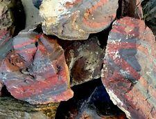 Tiger Iron Rough-5lb Striped Jasper Hematite/ Top Grade cab slab healing stone