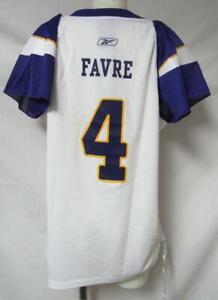 Minnesota Vikings Womens Size Large Brett Favre #4 Jersey Shirt A1 2296