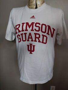 Adidas Crimson Gaurd Hoosier Nation U of I Indiana  T-Shirt Red White Scrn Print