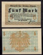 [13615] - NOTGELD FLATOW (heute: Złotów), Kreis, 5 Mark, 16.11.1918. Geiger 144.