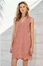 BNWT🌹NEXT🌹Size 18 Salmon Pink Scalloped Hem Embroidered Party Dress New
