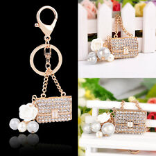 Rhinestone Crystal Handbag Charm Pendant Keychain Bag Keyring Bag Key Chain