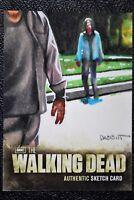 Walking Dead Season 2 Zombie Walker Sketch Art by Kyle Babbitt Trading Card CZE