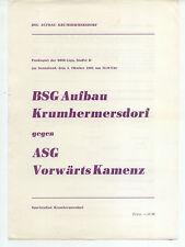 DDR-Liga 80/81 ZEPA construcción krumhermersdorf-ASG hacia adelante Kamenz 04.10.1980