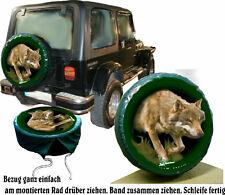 europ. Wolf auf Jagd Wild Auto Jeep Suzuki Jimny und Andere SUV Reserverad Bezug