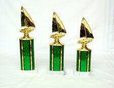 3 SAILBOAT TROPHIES SAILING TROPHY,  BOAT TROPHY   # 1  @@